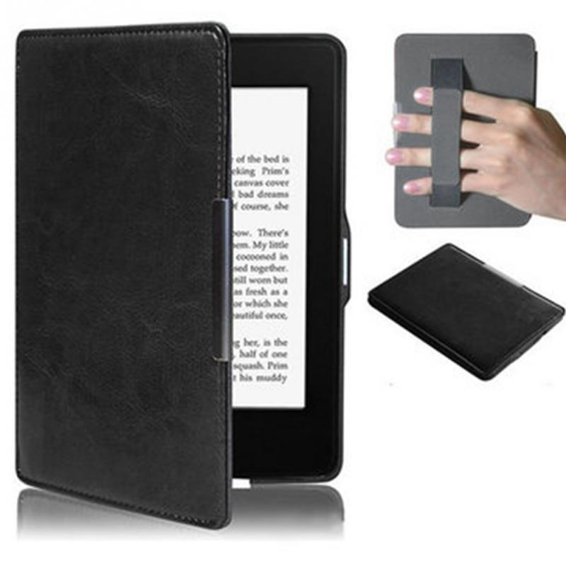 Ultra Slim PU Leather eReader Case For Amazon Kindle Paperwhite Paper White 1 2 3 Hard Shell Flip Cover eBook Cases