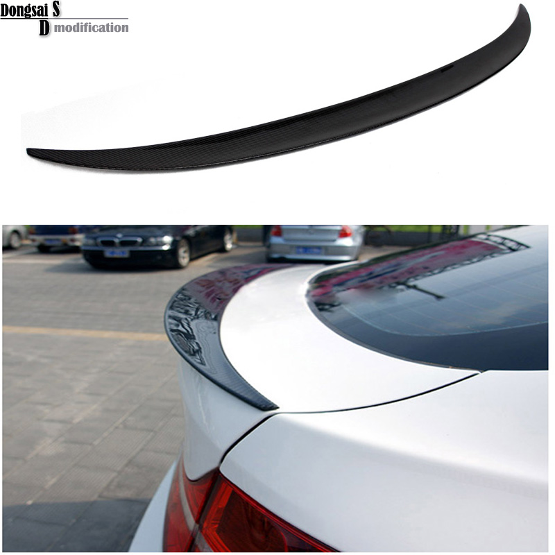 E71 E72 Carbon fiber Performance style spoiler rear trunk lip wings for BMW X6 2008 - 2014 carbon fiber car rear bumper extension lip spoiler diffuser for bmw x6 e71 e72 2008 2014 xdrive 35i 50i black frp
