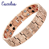 2015 Men 4in1 36pcs Magnet Negative Ions Germanium Far Infar Red Rose Gold Stainless Steel Bracelet