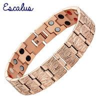 2015 Men 4in1 36pcs Magnet Negative Ions Germanium Far Infar Red Rose Gold Stainless Steel Bracelet