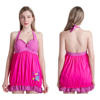 Vintage One Pieces Swimwear Dresses For Women Swimsuits Swimming Shorts Pool Beach Bathing Suits Girls Swim Set 2018 DO