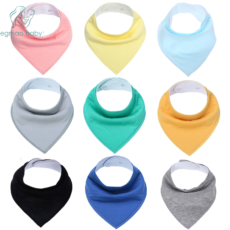 Hot Sale Solid color font b Baby b font Bandana Drool Bibs for Drooling and Teething