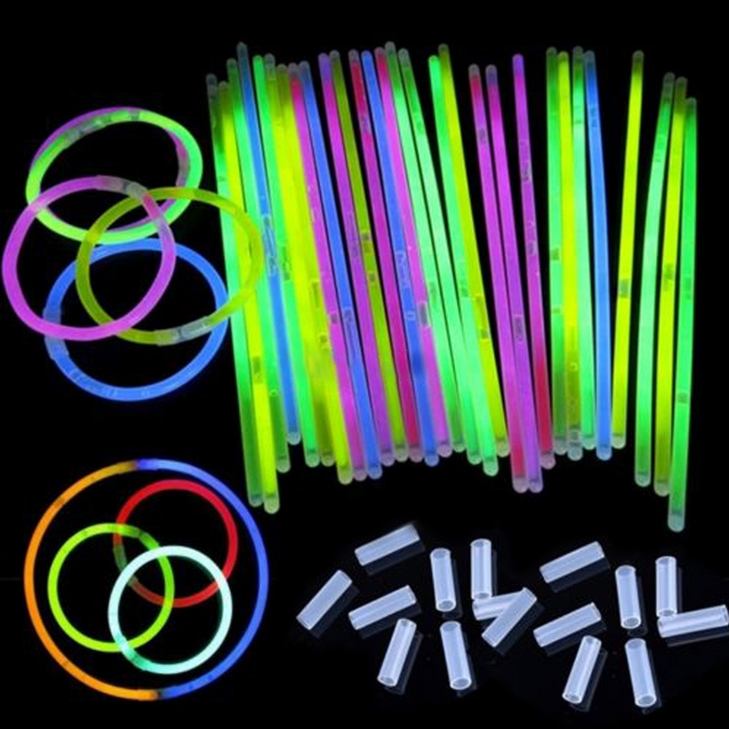 Us 13 49 55 Off Simple Lovely Round Glow Glesses Stick Eyegles Light Sticks 100pcs 10 20 30 40 50pcs Tools In