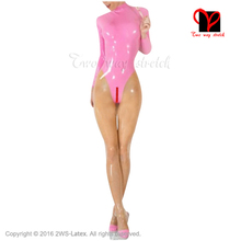 Sexy full latex catsuit suit body suit with feet socks rubber catsuit stockings Long sleeves Jumpsuit overall plus size XXXL