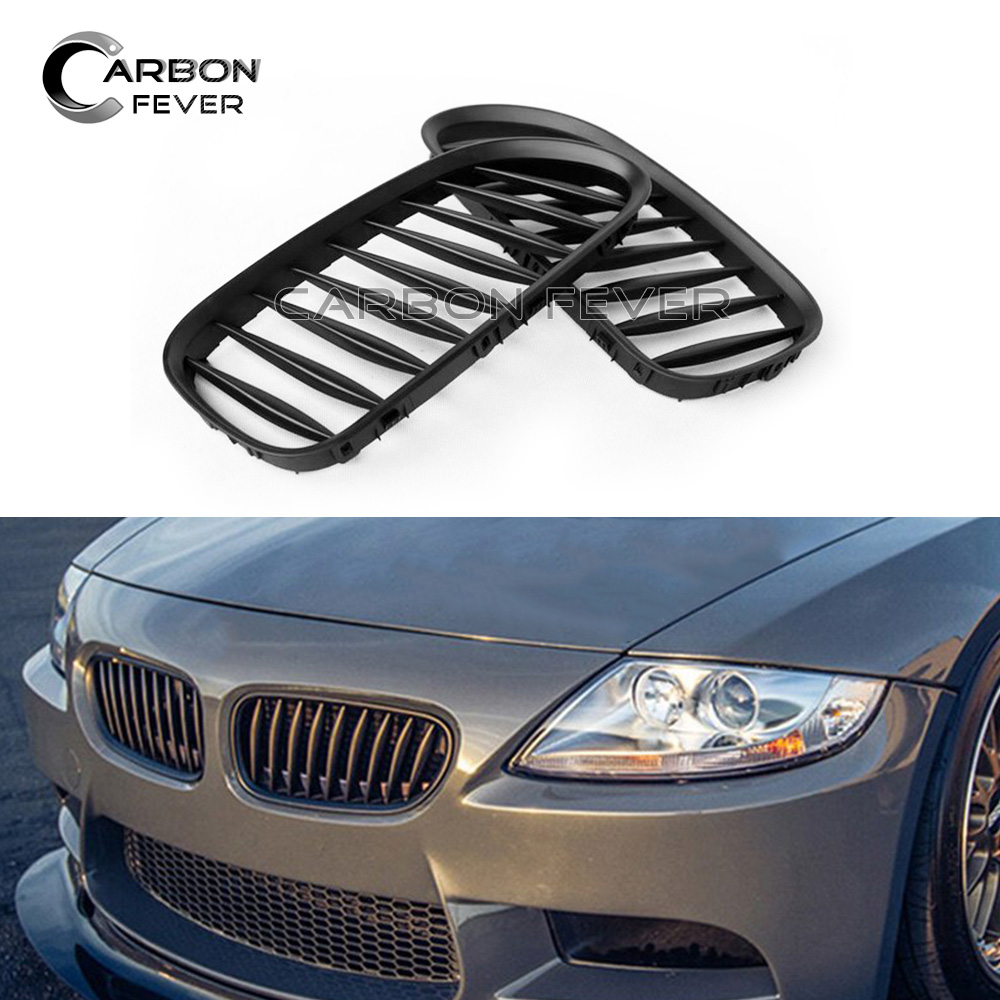 For Bmw Z4 E85 E86 Front Bumper Kidney Grille Mesh Roadster Coupe 5 Series Single Slat Gloss Black In Racing Grills From Automobiles Motorcycles On