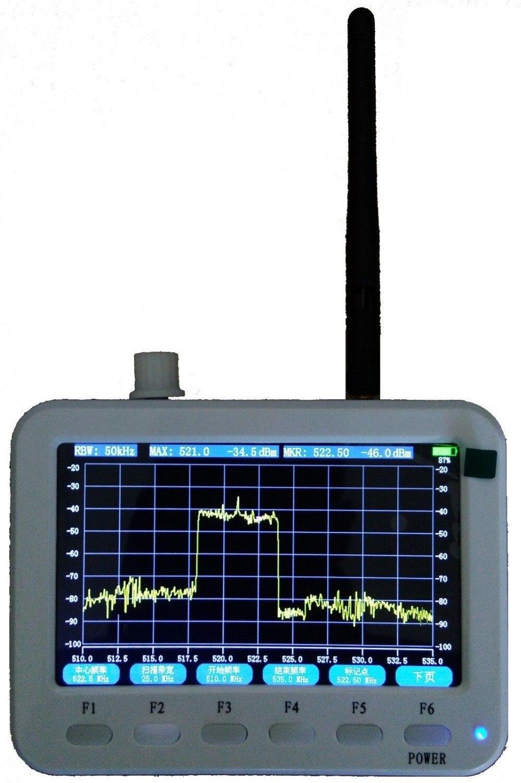"""Nouveauté 2.3GHz ~ 2.9G 5 """"LCD a manipulé l'étendue de l'analyseur de spectre RF/RBW/CENT/marqueur MAXHOLD"""