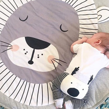 Play Mat Round Lion Rabbit Unicorn Fox Koala Crawling Blanket Infant Game Pad Rug Floor Carpet Baby Gym Activity Room Decor