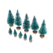 new 5pcs dollhouse miniature christmas trees santa claus gift christmas decoration accessory high qualitychina - Dollhouse Christmas Decorations