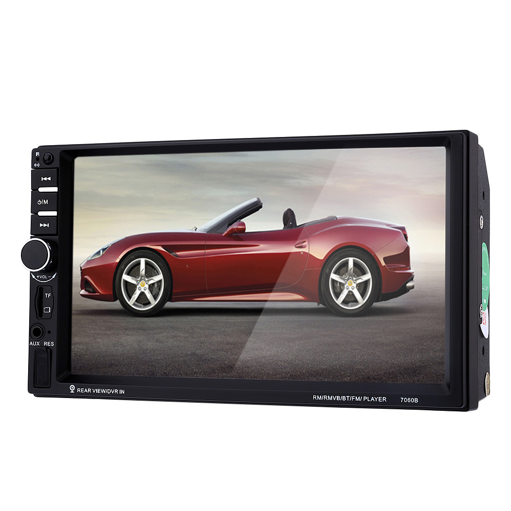 7060B 2 Din 7 Inch 480P Touch Screen Car MP5 Player Audio Stereo Bluetooth FM Radio Rear View Camera Charger USB TF AUX 7026tm 7 inch 800 480 double din hd bluetooth auto car radio mp5 player touch screen design tf fm aux input rear view camera set