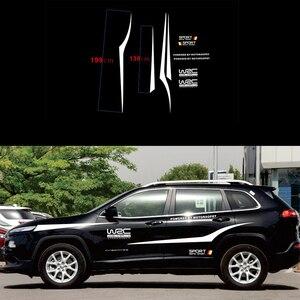 Image 1 - WRC العالم SUV الرياضة سباق السيارات ملصقات أسود أو أبيض اختياري مقاوم للماء الجانب شريط الشارات ملصقات