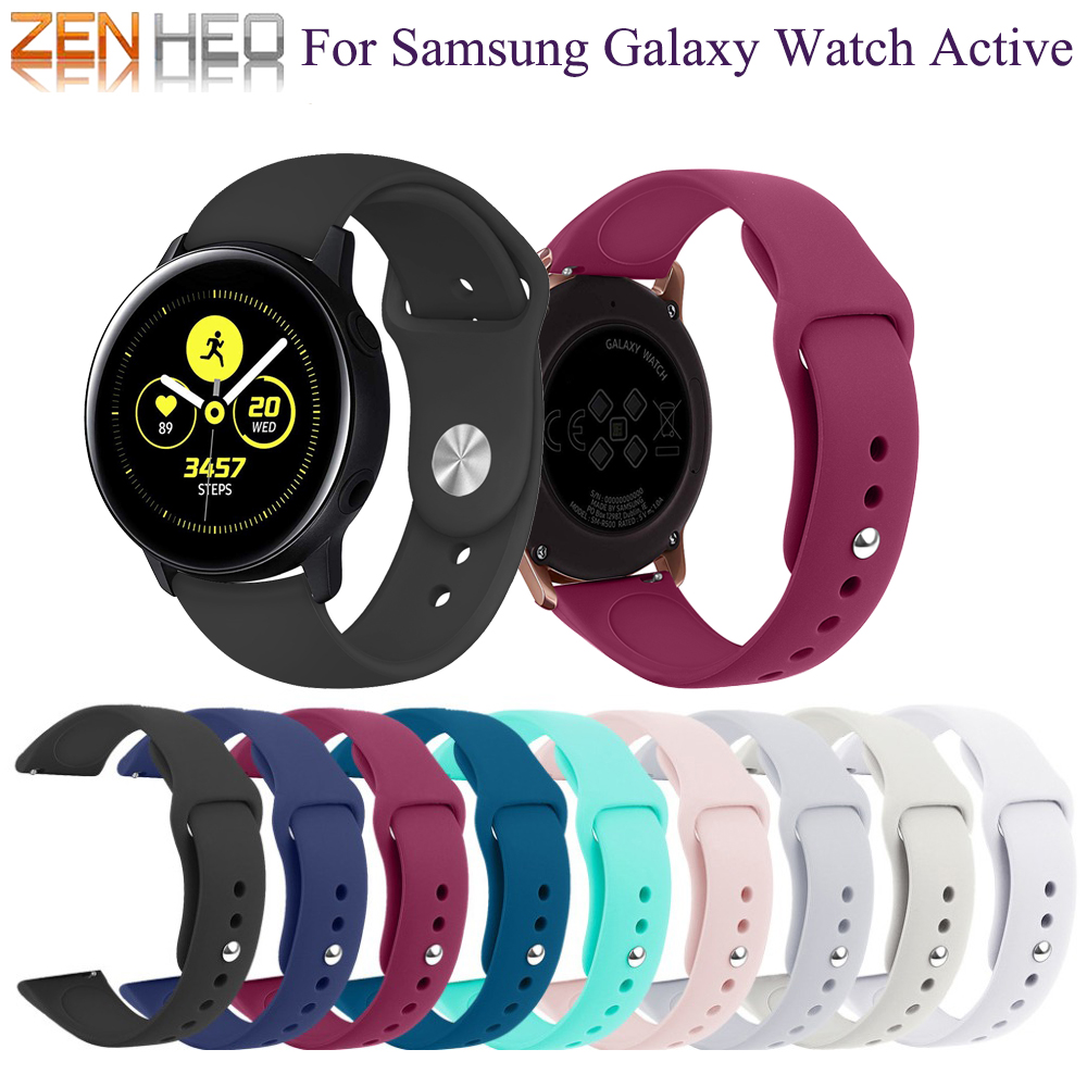 Band-Strap Watch Active-Accessories Samsung Wrist-Bracelet 20mm for Galaxy Silicone