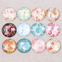 Onwear mix flor padrão foto rodada cúpula de vidro cabochão 25 30 20 12 16mm mm mm mm mm diy apartamento de volta resultados da jóia handmade