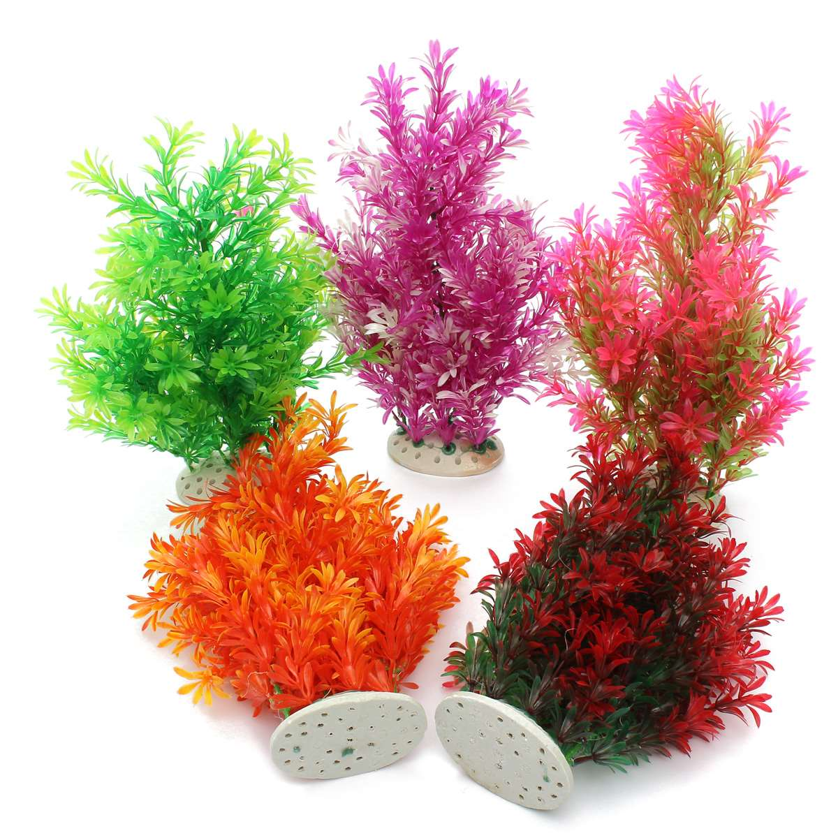 Plastic 4 Color Fish Tank Aquarium Plants Decor Flower Ornament NewGrass Exquisite Landscape 38x11cm-in Party DIY Decorations from Home & Garden on ...