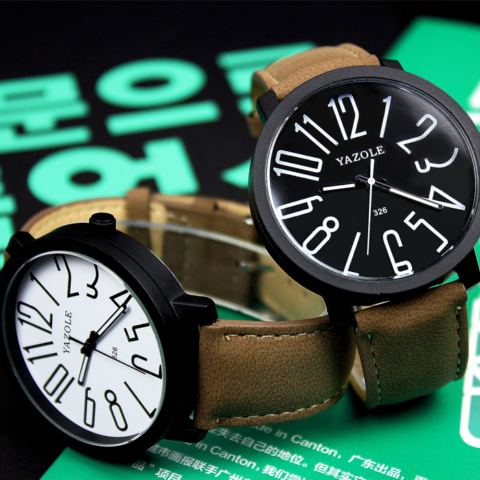 Fashion  College Watches Men And Women Wrist Watches Students Belts Large Clock Dial Simple Watch Relogio Masculino Watch Men