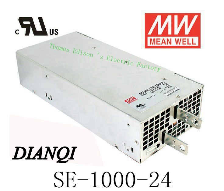 power supply SE-1000-24 Original MEAN WELL power suply unit ac to dc 1000W 24V 41.7A MEANWELL led power supply dianqi original mean well power suply unit ac to dc power supply nes 200 24 200w 24v 8 8a meanwell