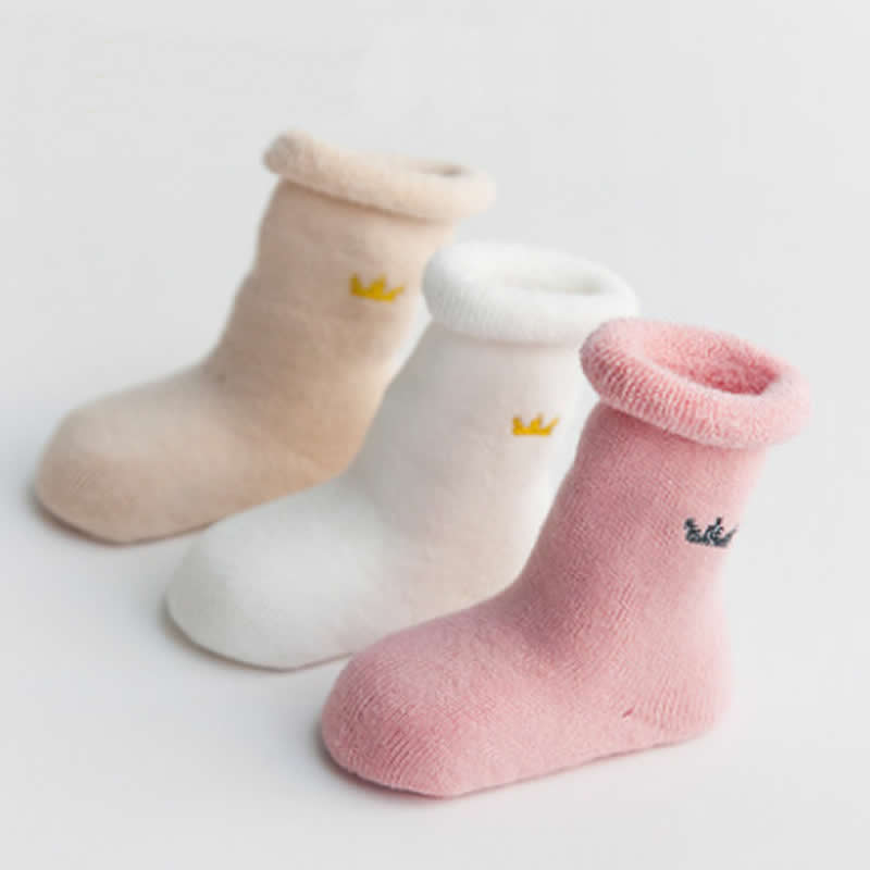 3Pair/Lot Winter Warm Baby Girls Boy Socks Newborn Baby Boy Socks Meias Para Bebe Calcetines Terry Thick Towel Cotton Tube Socks