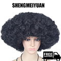 SHENGMEIYUAN Big Explosive head cosplay wigs for black men black synthetic hair wigs for costume party heat resistant free ship