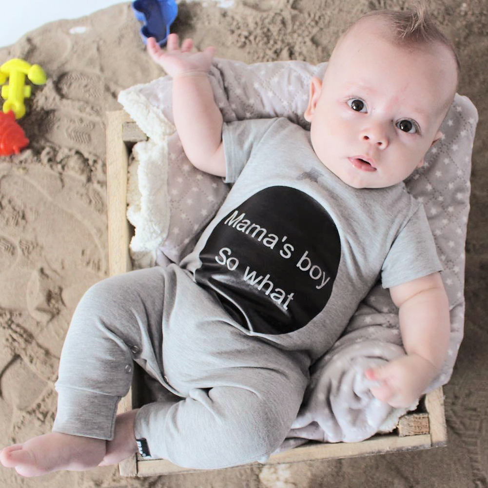Baby Rompers Summer Style Mama's Boy Baby Boy Girl Clothing Newborn Infant Short Sleeve Clothes Bebe De Roupa baby girl clothing syriped short sleeve tshirt pant headband 2pcs set summer baby girls clothes set roupa de bebe