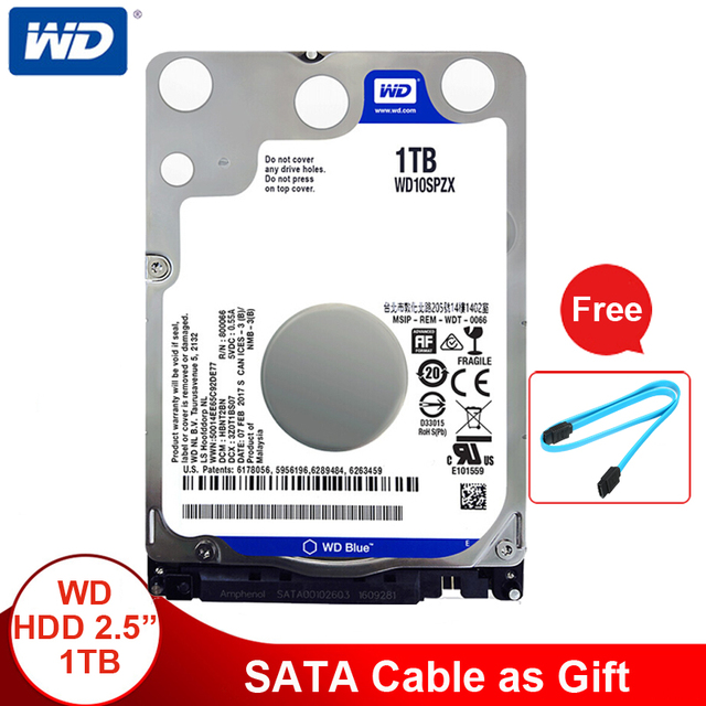 Ổ CỨNG WD Tây Kỹ Thuật Số Màu Xanh HDD 1 TB 2.5 SATA WD10SPZX Disco Duro laptop Bên Trong Sabit Ổ Đĩa Cứng HD Máy Tính Xách Tay harddisk