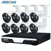 New 8CH 1080P HDMI POE NVR Kit 3* Array CCTV Camera System 2MP Outdoor IP66 IP Camera P2P Video Security Surveillance APP View все цены