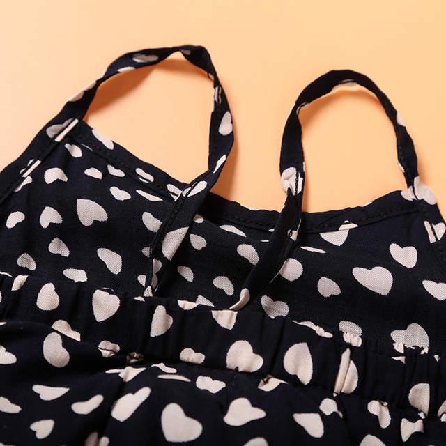 2dd10e852fa4 placeholder JT-152 Girls overalls children clothes Girls harness heart- shaped piece set kids summer