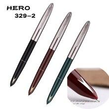 HERO 329-2 Classic Nostalgic Fountain Pen Arrow Mark 329 Horse Head Pattern Collection Ink Iridium Fine Nib 0.5mm for Gift