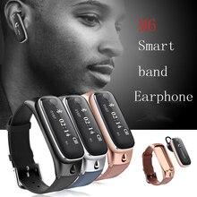M6 Смарт часы браслет спортивные Смарт Группа Браслет/Bluetooth гарнитура беспроводных наушников для iPhone Samsung PK Mi band2 V6 T2