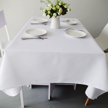 Solid color tablecloth, fabric hotel restaurant rectangular round table European tablecloth