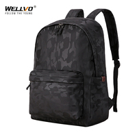 Wellvo Camouflage Backpacks Waterproof Nylon Backpack For Men Business Laptop Backpacks Childrens Bags for Schoole Travel XA38C