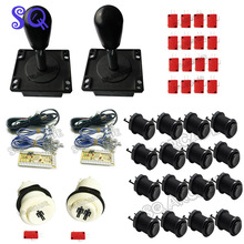 DIY Handle Arcade Set Kits 8 way classic joystick America style Push Buttons USB Cable Encoder Board To PC Joystick&Button(China)
