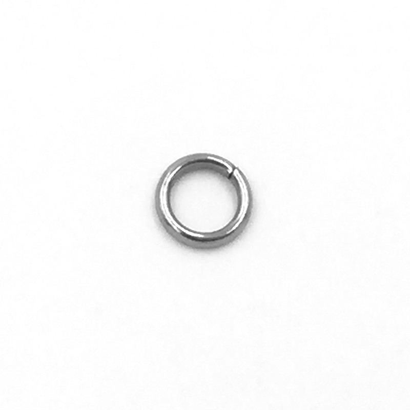 500Pcs Silver Tone Round Stainless Steel Split Open Jump Rings Jewelry Making Findings 5x0.8mm