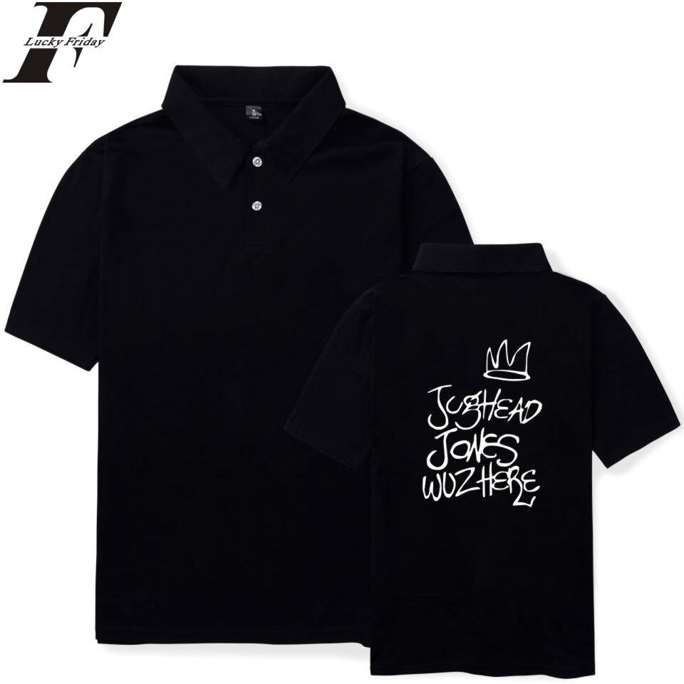 FADUN TOMMY Riverdale Summer   Polo   Shirt 2018 Hip Hop Shirts Summer Casual Style Short Sleeve Fashion Clothes Plus Size 4XL