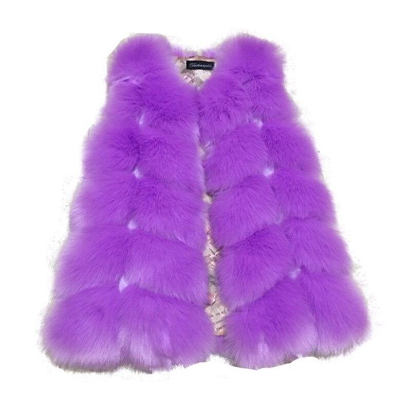 9d4b18131378 2018 Autumn Winter Warm Thick Waistcoat Boys Girls Artificial Fox ...