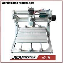 Control de CNC 2418 GRBL Diy CNC machine, área de trabajo 24x18x4.5 cm, Pcb 3 Ejes Pvc fresadora, pedacitos del Ranurador de Madera, Talla Grabador, v2.5