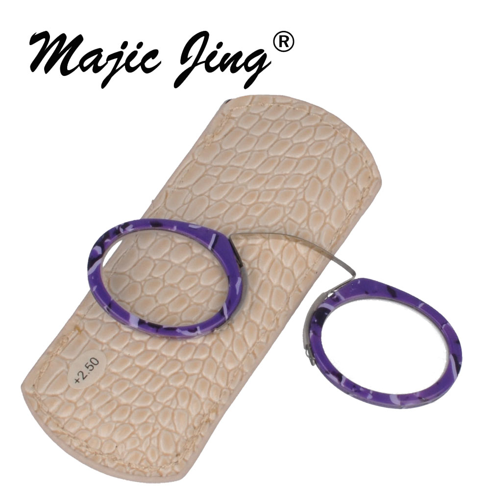 Magic Jing PURPLE COLOR täysi vanne MINI-lukulasit + 100 ~ + 400 - Vaatetustarvikkeet
