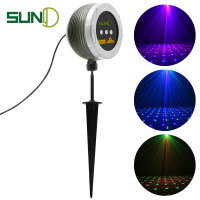 SUNY New RGB Outdoor Laser Light 3 Apertures Full Color Motion & Static Star Dots Meteor Projector for Garden Yard OBG H100RGB