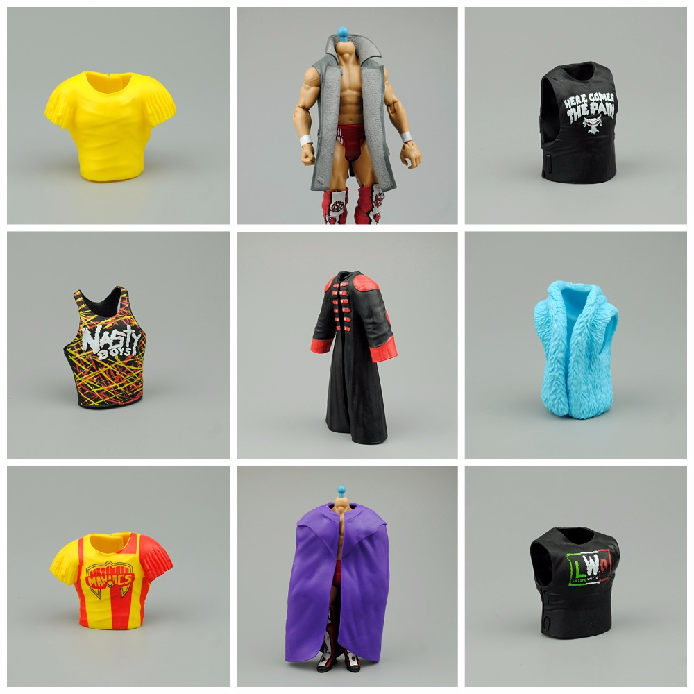 For 7 inch Classic Toy Super Movable Wrestler occupation wrestling Fighter action figure vest coat Clothing accessories