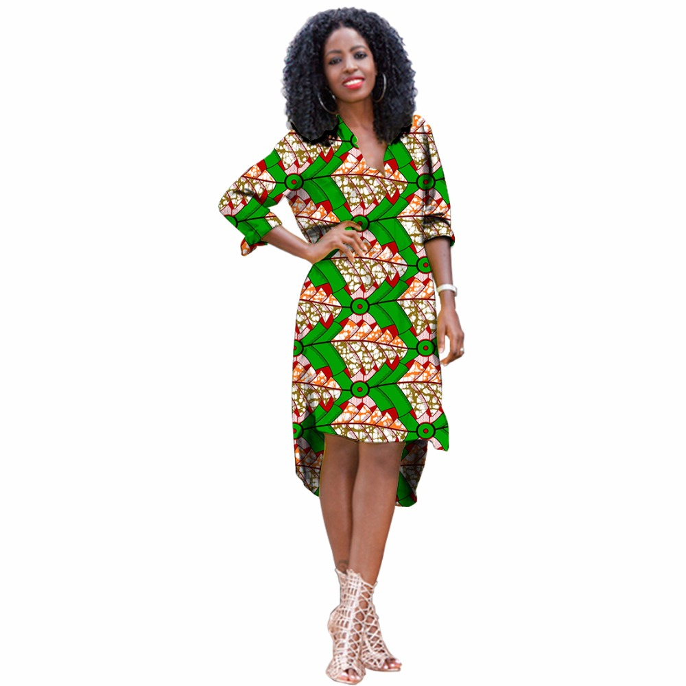 c1f9efc7fc6 Elegant women african print pullover long shirt stand collar ladie...