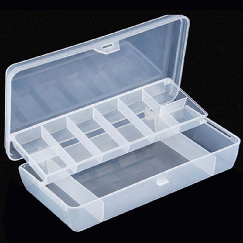 2018 Plastic 2 Tray Compartments Fishing Lure Tackle Box Two-Sided Storage Case Safety & Survival Z907