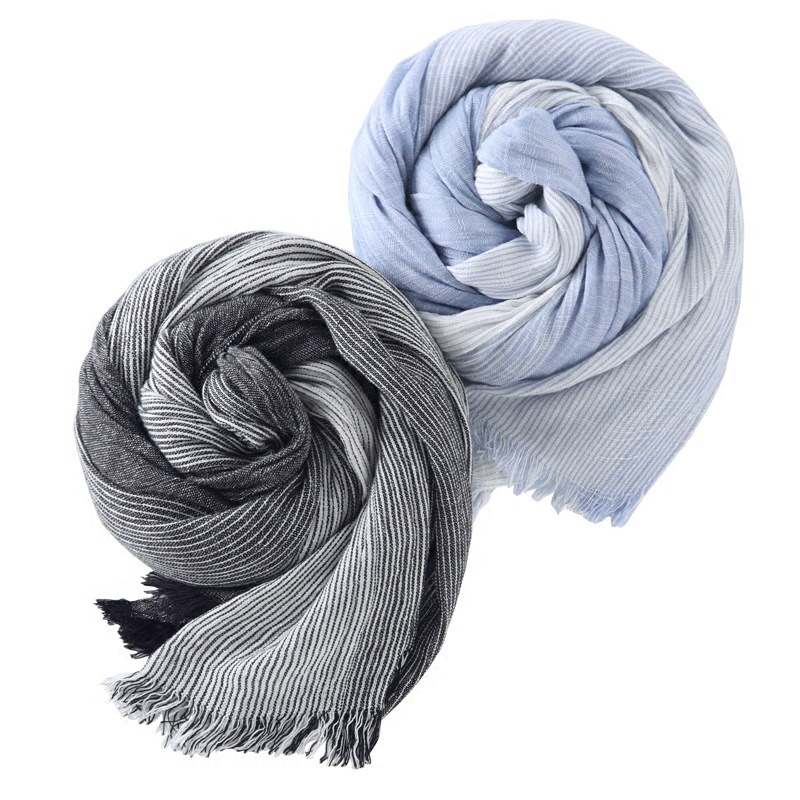 2017 Hot Sale Brand Winter Scarf Women Warm Soft Tassel Bufandas Striped Cotton Men Scarves