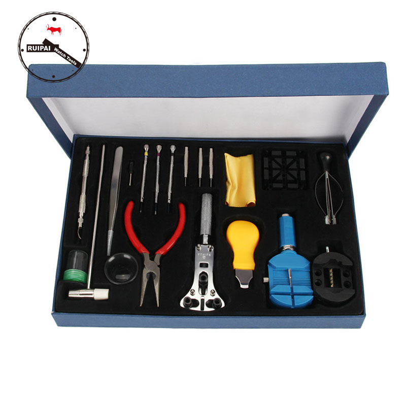Watch Tools 20 in 1 Watch repair Tools set box Watch Back Opener Screwdriver watch strap replacement tools for watchmaker