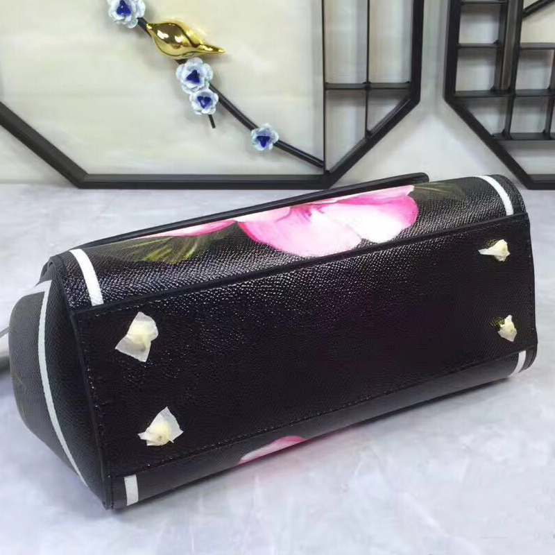 Subshrubby Der Kette Freies Handtaschen Misanwiney Flo Verschiffen Luxus Gestreiften Frauen leder Platz High end Peony Marke Schulter Metall Einzelnen Tasche TwqPpRq
