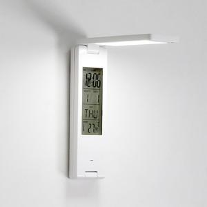 Image 5 - Woodpow LED USB 5Vพับตารางโคมไฟหลอดไฟแบบชาร์จไฟได้นาฬิกาปลุกปฏิทินหนังสือEyeแบบพกพาการเรียนรู้โคมไฟ