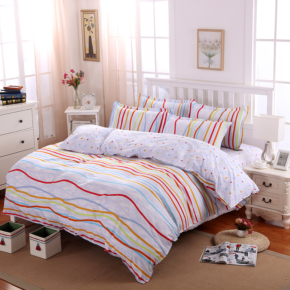 Home Textile Small fresh 3/4pcs Bedding Sets Bedclothes Duvet Cover Bed Sheet Children Kids Comforter cover Bed Linen