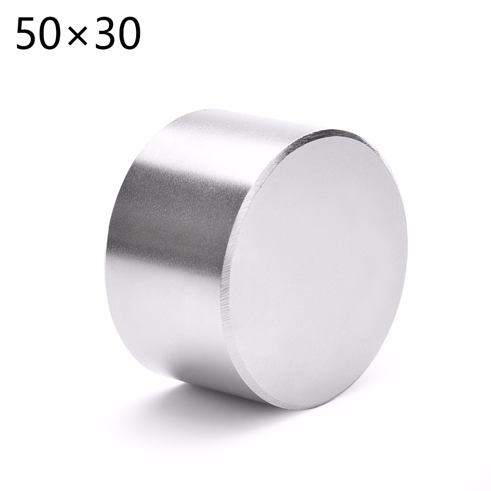 2pcs/lot <font><b>n52</b></font> <font><b>50x30</b></font> Super Strong Dia. 50x30mm Rare Earth Neodymium Disc Magnet 50*30 50mm x 30mm 50*30mm image