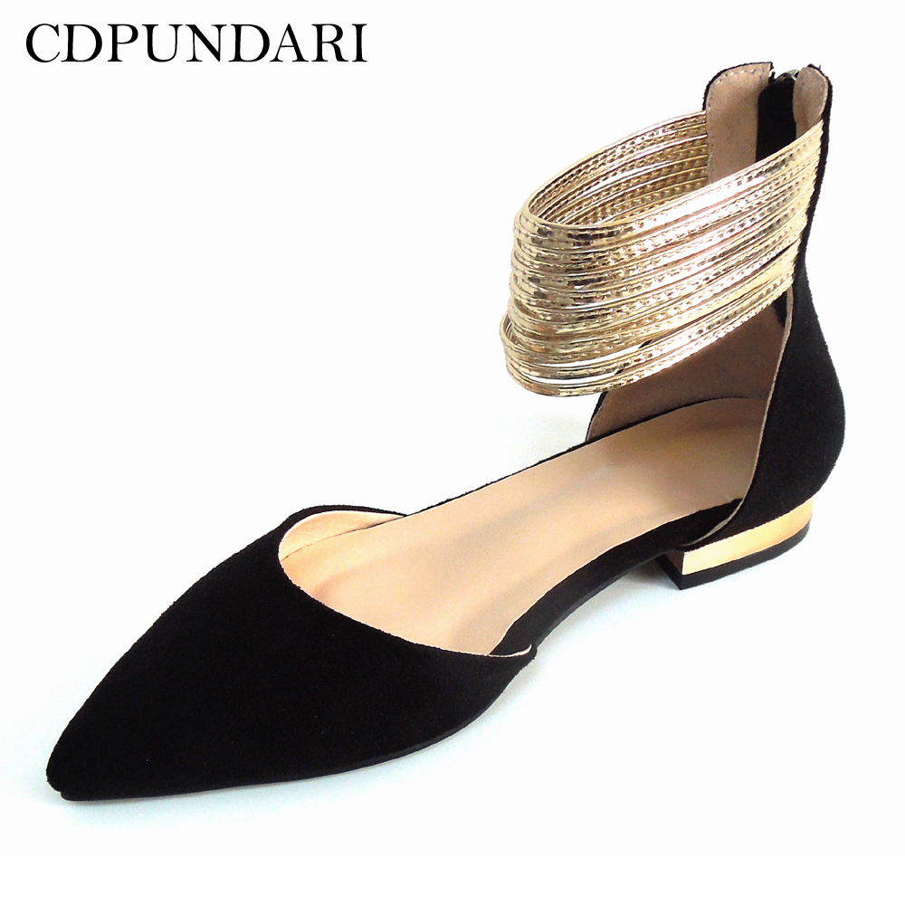 CDPUNDARI Big Size Black Flat sandals Women summer shoes chaussures femme ete 2018 Ladies Sandals