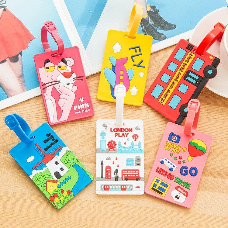 Neue Nette 3d Cartoon Kunststoff Gepäckanhänger Schöne Reisegepäck Koffer Gepäck Reisetasche Internat Tag Adresse Label Name Id Tag Mutter & Kinder