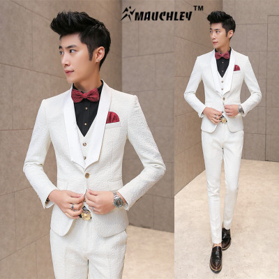 Aliexpress.com : Buy MAUCHLEY 3 Piece/Set Men Suits Vest Pants ...