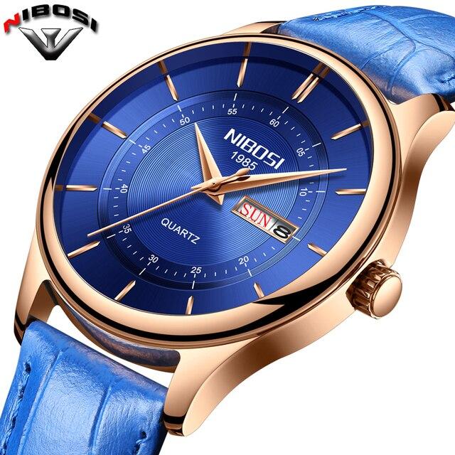 e6fc15f63ee NIBOSI Mens Relógios Top De Luxo Relógio Relogio masculino Moda À Prova D   Água Esporte