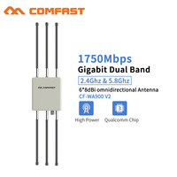 Comfast 1750Mbps 802.11AC Gigabit Outdoor Omnidirectional Wireless AP Router 5.8Ghz WIFI Repeate Bridge Wi fi access Antenna AP